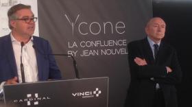 Inauguration de l'immeuble Ycone à Lyon Confluence
