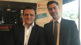 Laurent Fiard, président de Visiativ, et Sacha Tolegano Jourdren, dirigeant de Valla.