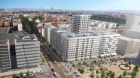 Représentation 3D de l'ensemble d'immeubles Ynfluences