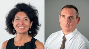 De gauche à droite :  Marina Verbaere, responsable d'équipe de l'agence Pôle emploi de Saint-Priest et de Saint-Fons (69) et Olivier Camps, Directeur Rhône du groupe Berto.