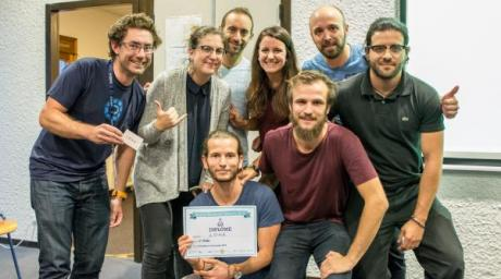Jordan Chenevier et l'équipe constituée autour de son projet Loha.