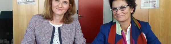 Suzanne Kucharekoua-Milko, conseillère de la Cour régionale des comptes et Catherine de Kersauson, présidente