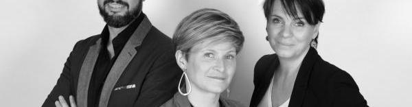 Les trois associés d'Appart & Sens : Thierry Buffet, Caroline Liby et Gaëlle Duranton.