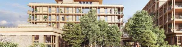 Après l'immeuble en bois Le Haut-Bois, l'éco quartier Flaubert de Grenoble accueillera une résidence en terre crue.