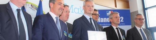 Bruno Le Maire chez STMicroelectronics pour le lancement officiel du plan Nano 2022.