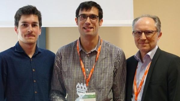 François Fauritte, fondateur de Ki-Di, au milieu, entouré des partenaires de Lyon Start Up
