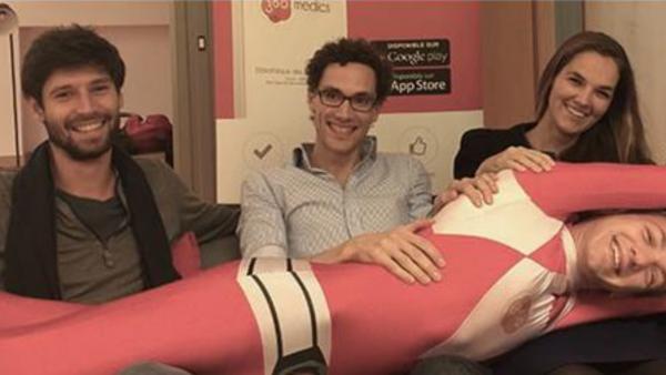 Romain Bruckert (CTO), Grégoire Pigné (CEO) et Clotilde Petit (COO), les cofondateurs de 360 medicals.
