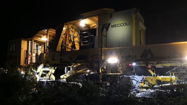 La suite rapide est un véritable train-usine permettant de changer les voies bien plus rapidement qu'avant
