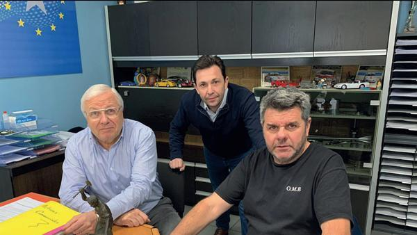 De gauche à droite : Alain Sowa, Philippe Rivière et Philippe Crozet