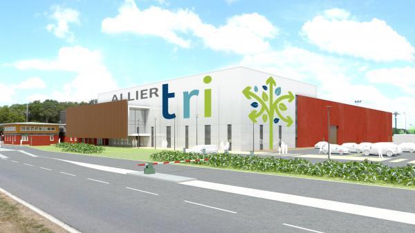 Le futur centre de tri départemental de l'Allier, brefeco.com