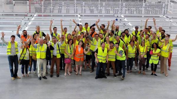 Les équipes d'Archigroup et d'Ingégroup sur le chantier de la future usine de K-Line.