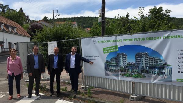 Eiffage Construction Auvergne va construire le Resort thermal et touristique de France Thermes à Châtel-Guyon