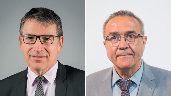 Bernard Perret, nouveau directeur général de la Semcoda et Jean-Yves Flochon, nouveau président de la Semcoda