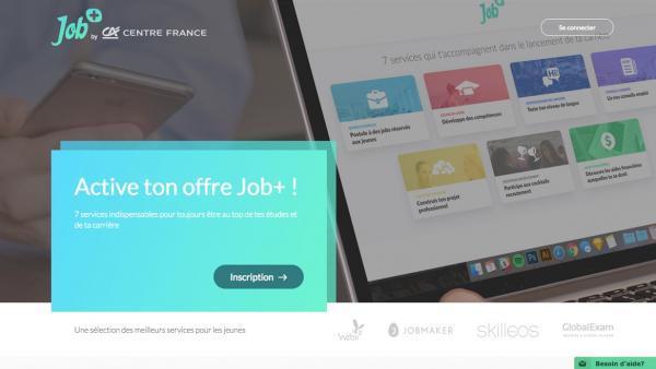 Le Crédit Agricole Centre France et Wizbii lancent Job+