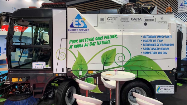 Europe Service innove avec une balayeuse roulant au GNV