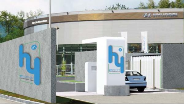 station de recharge hydrogène