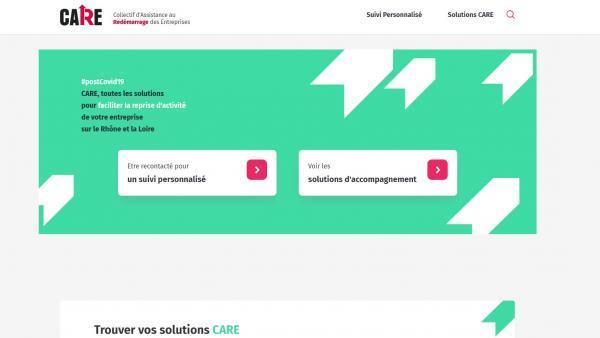 Lancement de CARE, plateforme dédiée à l'assistance au redémarrage des entreprises de la Loire et du Rhône