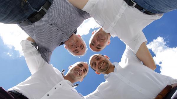 Les quatre fondateurs de Crisisoft, brefeco.com