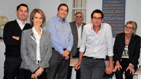 L'équipe d'Orphelia Pharma se répartit entre Paris et Lyon.