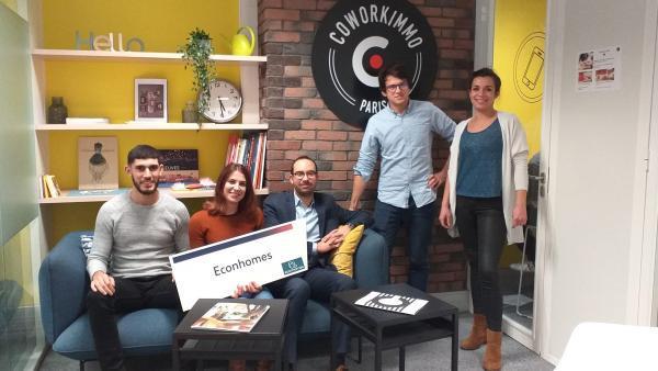 Econhomes s'installe chez Coworkimmo Paris pour optimiser les charges des immeubles franciliens brefeco