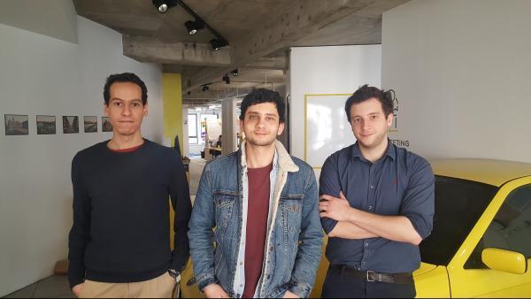 De gauche à droite : Ilyass Haddout, Salim El Houat et Maxime Roy.