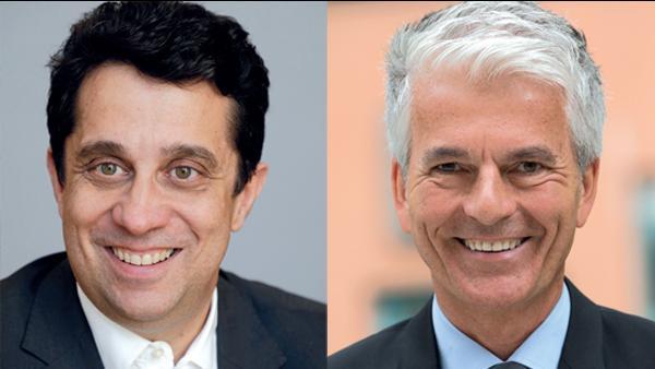 à gauche Pascal Blain, directeur de Pôle Emploi Auvergne-Rhône-Alpes et à droite Jean-Luc Raunicher, Président du MEDEF Auvergne-Rhône-Alpes