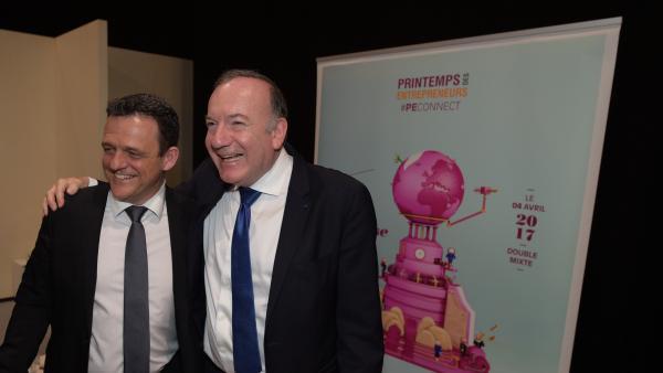 Pierre Gattaz et Laurent Fiard (président du Medef Lyon-Rhône)
