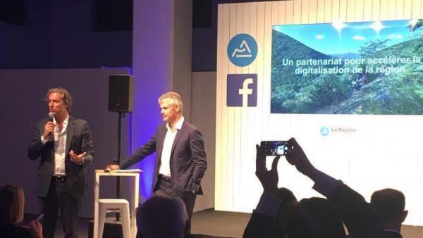 Partenariat Facebook Région Auvergne Rhône Alpes.