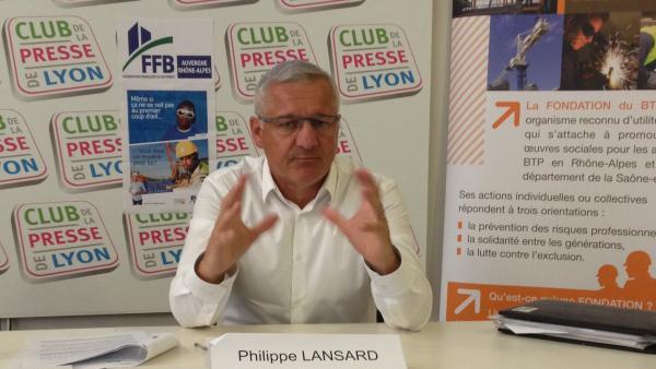 Philippe Lansard, président de la commission formation de la FFB Auvergne- Rhône-Alpes.