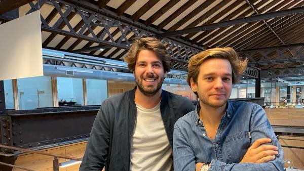 Vincent Dreyfus (à gauche) et Constantin Eliard, cofondateurs de Flease.