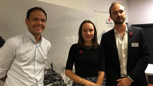 Dans les locaux du Totem, (de gauche à droite), Cédric O, Julie Huguet et Romain Gentil.