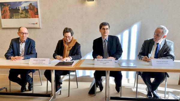 La Métropole de Lyon, le Sigerly et GRDF signent de nouveaux contrats de concession