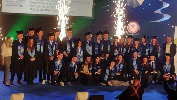 Les diplômés de la dernière promotion, 2020-2021.