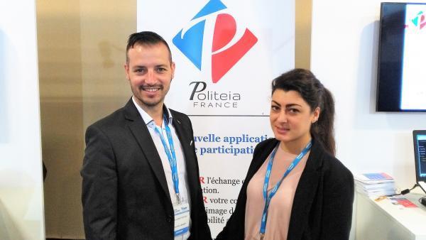 Guillaume et Anaïs Piantino, dirigeants de Politeia France
