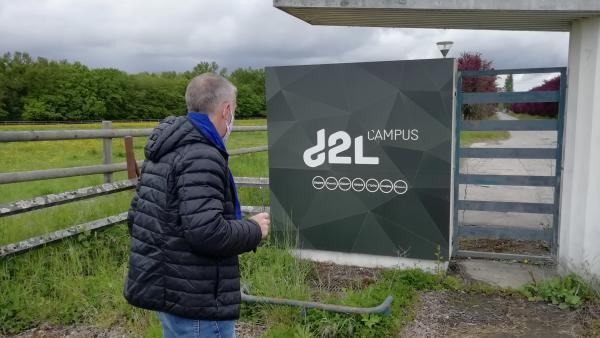 L'entrée du Campus du groupe d2L.