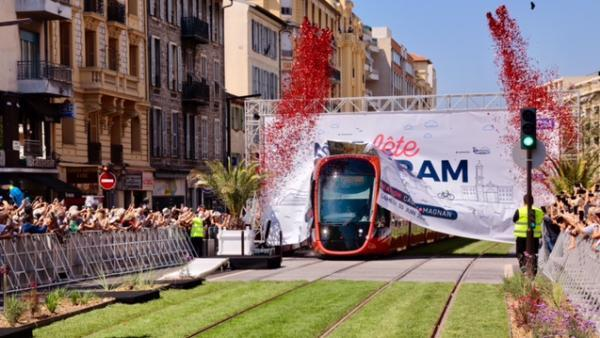 L'inauguration du Citadis X05 de Nice