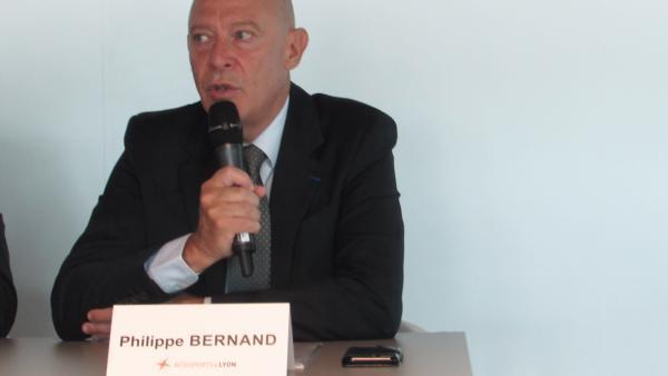 Philippe Bernand, président du directoire d'Aéroports de Lyon.