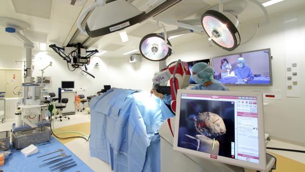 Le bloc opératoire de Clinatec.