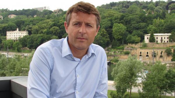 Thierry Franc, à Lyon-Confluence