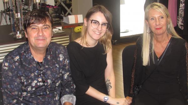 Yves Casile et Nathalie Chaize entourent leur fille Paloma.
