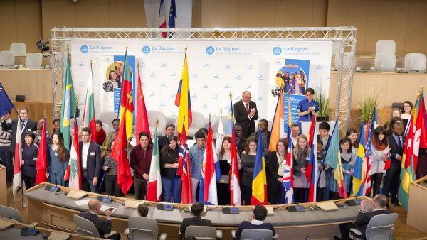 Jeunes Ambassadeurs de la région Auvergne-Rhône-Alpes.