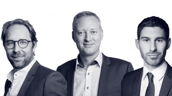 Frédéric Fiore, Hervé Letoublon et Laurent Mottet sont les trois associés fondateurs de Jadel.