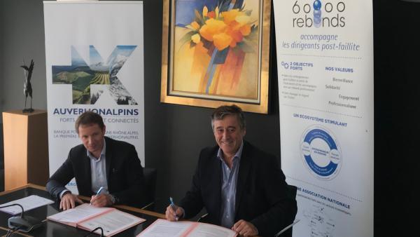 Renouvellement du partenariat entre la Banque Populaire Auvergne Rhône Alpes et l'association 60 000 rebonds