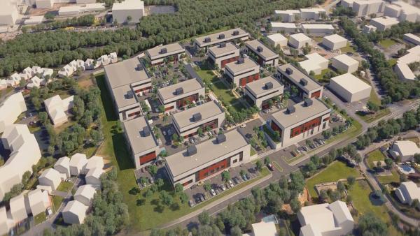 Sur le parc du Jubin à Dardilly, deux des quatorze bâtiments ont été livrés.