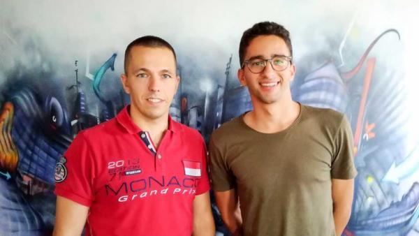 Johan Lopes, fondateur de Klapp, accompagné de Vincent Vienet, business developper.