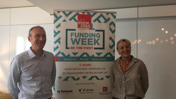 Claude Senger (vice-président) et Nathalie Pradines (présidente) forment la nouvelle gouvernance de l'incubateur Les Premières Aura.
