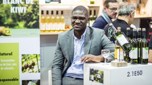 Marvet Mbani, cofondateur de Longonya, lors du Sirha 2017.