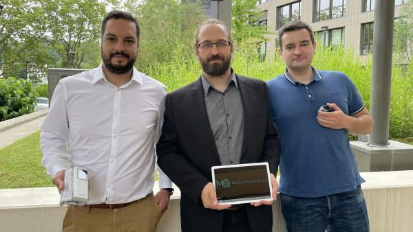 Sofiane Omri, Xavier Lojacono et Vincent Oeillet (de g. à dr.), trois des cinq associés.