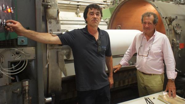 L'entreprise Mathelin compte 35 salariés. A droite, son directeur Didier Butor.
