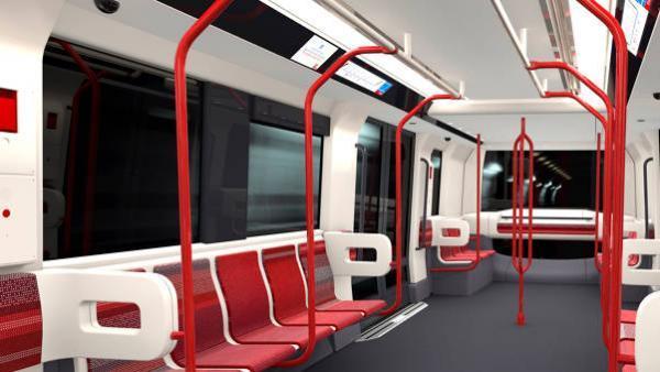 Nouveau design des futures rames de la ligne B du métro.
